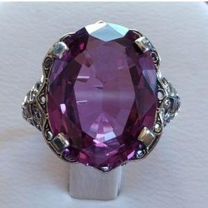 Jewelry - 8ct Alexandrite Art Deco Designed Ring Size 6